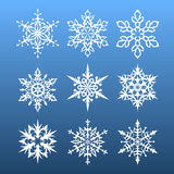 Snowflakes set. nine design element. Vector illustration Vector Illustration