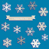 Snowflakes set Royalty Free Stock Photo