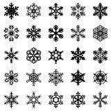 Snowflakes set. Vector illustrations of snowflakes set Stock Photo