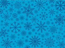 Snowflakes in shades of blue Stock Photo