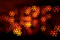 Snowflakes shape lights background Stock Photo