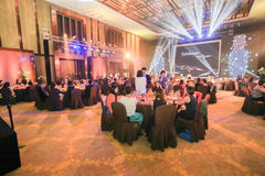 Snowflakes show party. Snowflakes show cosmetics banquet in Beijing in 2014 Stock Image