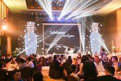 Snowflakes show party Royalty Free Stock Photos