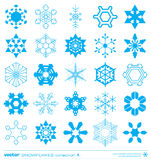 Snowflakes silhouette design. Vector. Royalty Free Stock Image