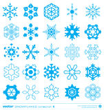 Snowflakes silhouette design. Vector. Stock Image