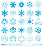 Snowflakes silhouette design. Vector. Stock Photos