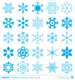 Snowflakes silhouette design. Vector. Stock Images