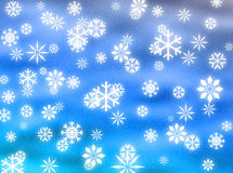 Snowflakes in the sky vector illustration