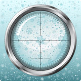 Snowflakes in sniper sight. Beautiful snowflakes in sniper sight. Additional vector format in EPS (v.8 Stock Photo