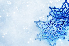 Snowflakes.Snow. Beautiful Winter background.With copy-space stock image