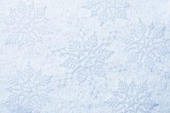 Snowflakes on snow royalty free stock photos