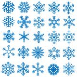 Snowflakes. Snowflake Set - 25 Illustrations, Vector Royalty Free Stock Photos