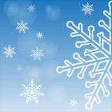 Snowflakes on a solar background Stock Photography