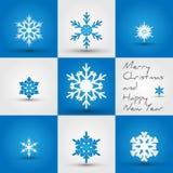 Snowflakes_square Immagine Stock Libera da Diritti