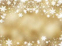 Snowflakes and stars Royalty Free Stock Photography