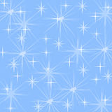 Snowflakes and stars. Royalty Free Stock Photography