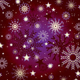 Snowflakes and stars background Stock Image