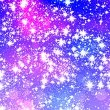 Snowflakes / stars on blue background Royalty Free Stock Photo