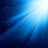 Snowflakes and stars on blue light. EPS 8 Stock Image