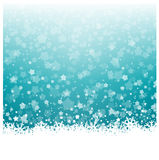 Snowflakes and Stars Christmas Background Stock Image