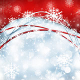 Snowflakes and stars descending on background Royalty Free Stock Photos