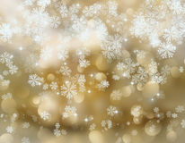 Snowflakes and stars Stock Images