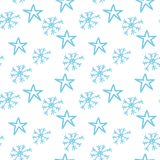 Snowflakes and stars Royalty Free Stock Photos