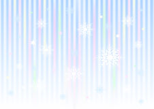 Snowflakes and stars on striped gradient mesh background Stock Photo