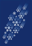 Snowflakes stream Royalty Free Stock Photo