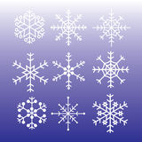 Snowflakes styles eps10. Snowflakes styles on blue background eps10 Royalty Free Illustration