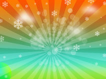 Snowflakes Sunburst Christmas Background Royalty Free Stock Image