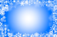 Snowflakes surround Royalty Free Stock Image