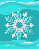 Snowflakes with Swirl Stock Photo