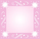 Snowflakes and swirls Royalty Free Stock Photos