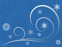 Snowflakes and Swirls Stock Photography