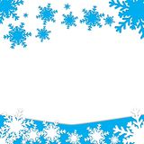 Snowflakes symbol of Christmas ornaments royalty free stock images