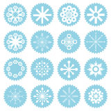 Snowflakes symbols Royalty Free Stock Photography