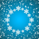 Snowflakes texture. Christmas and New Year Stock Images