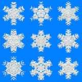 Snowflakes texture for wrapping paper Royalty Free Stock Photo