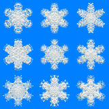 Snowflakes texture for wrapping paper Royalty Free Stock Image