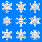 Snowflakes texture for wrapping paper Royalty Free Stock Photos