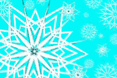 Snowflakes textured background Stock Photography