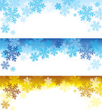 Snowflakes top. Top of the page variations with snowflakes Royalty Free Stock Photos