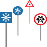 Snowflakes in traffic Stock Photo