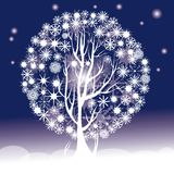 Snowflakes tree Stock Image