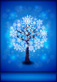Snowflakes tree background Stock Photography