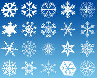 Snowflakes twenty Royalty Free Stock Photos