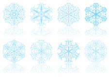 Snowflakes, vector Royalty Free Stock Images