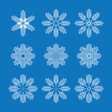 Snowflakes Vector Stock Image