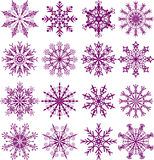 Snowflakes, vector. Snowflakes, illustration Royalty Free Stock Images